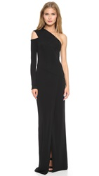 Yigal Azrouel One Shoulder Gown Jet