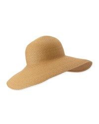 Eric Javits Bella Woven Floppy Sun Hat Natural