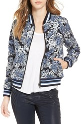 Blank Nyc Women's Blanknyc Floral Jacquard Bomber Jacket