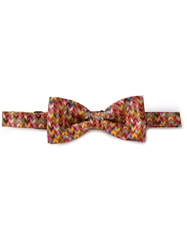 Fe Fe Fefe Zig Zag Print Bow Tie Yellow And Orange