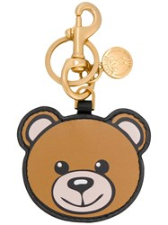 Moschino Toy Bear Key Chain Women Leather One Size Brown