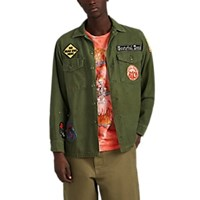 Madeworn Grateful Dead Cotton Shirt Jacket Olive
