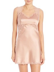 Josie Natori Stretch Silk Charmeuse Chemise Blush