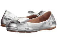 Tory Burch Divine Bow Driver Ballet Silver
