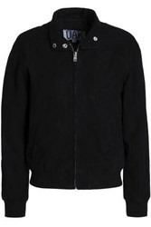 Oak Suede Bomber Jacket Black
