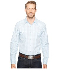 Stetson 0887 Shadow Check Blue Men's Clothing