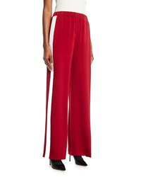 Elizabeth And James Kelly Side Stripe Pull On Pants Red White