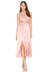 Three Floor Pop Of Peony Dress Pink