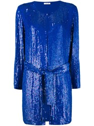 P.A.R.O.S.H. Gughi Sequinned Jacket Women Viscose Pvc Xs Blue