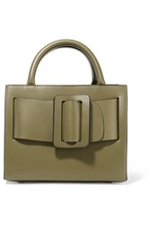 Boyy Bobby23 Small Buckled Leather Tote Army Green