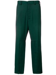 Just Cavalli Slim Fit Tailored Trousers Green