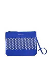 Kenneth Cole Caton Street Perforated Leather Clutch Cobalt