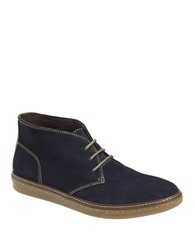 Johnston And Murphy Mcguffey Suede Chukka Sneakers Taupe Navy