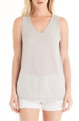 Michael Stars Women's U Neck Tank Silver Fox