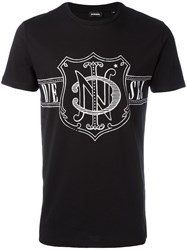 Diesel Printed T Shirt Black