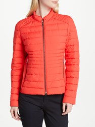 Gerry Weber Quilted Ribbed Side Panel Jacket Geranium
