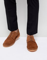 Selected Homme Suede Derby Shoes Brown