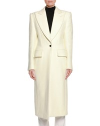 Tom Ford Double Wool Silk Coat White