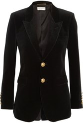 Saint Laurent Velvet Blazer Black