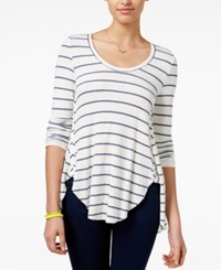 American Rag Juniors' Striped High Low Top Only At Macy's New Indigo