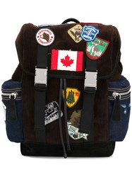 Dsquared2 Patch Backpack Brown