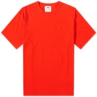 Y 3 Classic Chest Logo Tee Red
