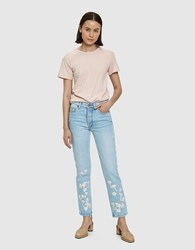 Bliss And Mischief Night Jasmine Straight Leg Jean Light Wash