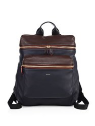 Paul Smith Leather Backpack Black Brown