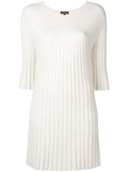 N.Peal Ribbed Knit Tunic Neutrals