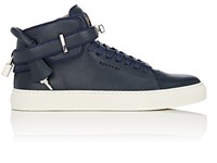 Buscemi Men's 100Mm Edge Leather Sneakers Navy