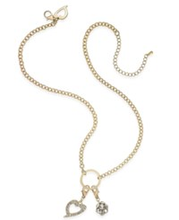 Thalia Sodi Gold Tone Crystal Clip On Charm Necklace Only At Macy's