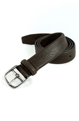 Andrew Marc New York 'Laos' Belt Dark Brown