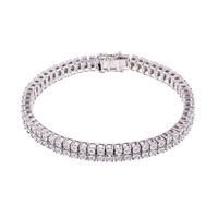 Think Positive By Antonio Marsocci Mens Sterling Silver Diamond Bracelet