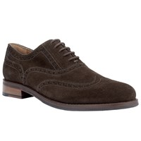 John Lewis Bentley Suede Lace Up Brogues Coffee