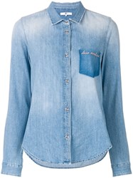 7 For All Mankind Love Denim Shirt Blue