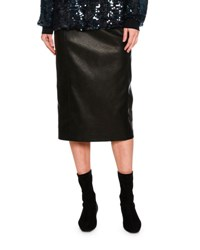 Stella Mccartney Faux Leather Combo Pencil Skirt Black