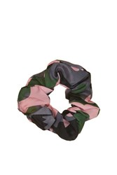 Topshop Camo Scrunchie Army Green