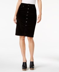 Jag Corduroy Pencil Skirt Black