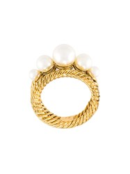 Marc Jacobs 'Pearl Rope' Ring Metallic