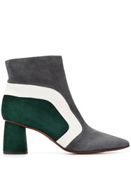 Chie Mihara Panelled Ankle Boots Grey