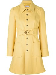 Red Valentino Button Down Trench Coat Yellow And Orange