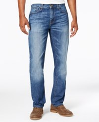 Tommy Hilfiger Men's Straight Fit Medium Wash Jeans