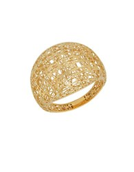Lord And Taylor 14K Yellow Gold Mesh Ring