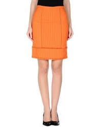 22 Maggio Knee Length Skirts Orange