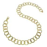 Torrini Tuscania 18K Yellow Gold Large Chiselled Chain