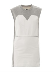 Maison Martin Margiela Leather Panel Cotton Dress