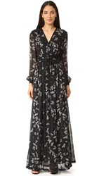 Just Cavalli Combat Eagles Maxi Dress Black Variant