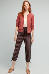 Anthropologie Silky Striped Joggers Blue Motif