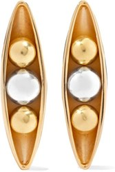 Anne Manns Eadie Silver And Gold Plated Earrings One Size