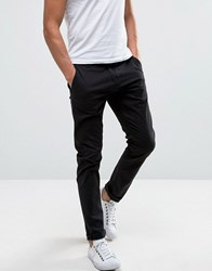 Only And Sons Skinny Fit Chinos In Black Black